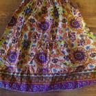 Яркая длинная юбка для модняшки на 5-6 лет