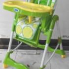 Стульчик детский для кормления Bambi RT 002 L для кормления, с корзиной, на колесах, лимон, салатовы