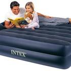 Надувная кровать Queen Rising Comfort Intex 66702 (163х208х47 см.) + встроенный насос 220V