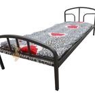 кровать Эконом с ватным матрасом - 2000х1000 мм