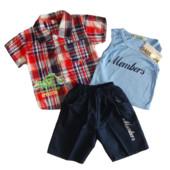 Замечательный летний комплект-тройка для мальчика (Венгрия)