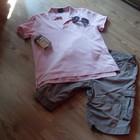 Мужская  розовая футболка POLO.