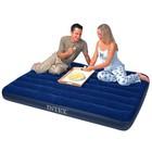 Матрац для отдыха - Intex 68759 (синий, надувной, флок. покрытие, (152х203х22)