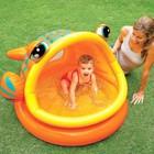 """Детский надувной бассейн """"Ленивая рыбка"""" с навесом 124х109х71см интекс (Intex 57109)"""