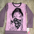 Туника, футболка для девочки с рукавом новая, производство Турция р. 30-34