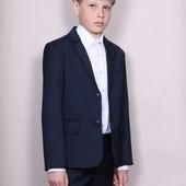 Красивый школьный костюм двойка, тройка 122-146 синий,черный