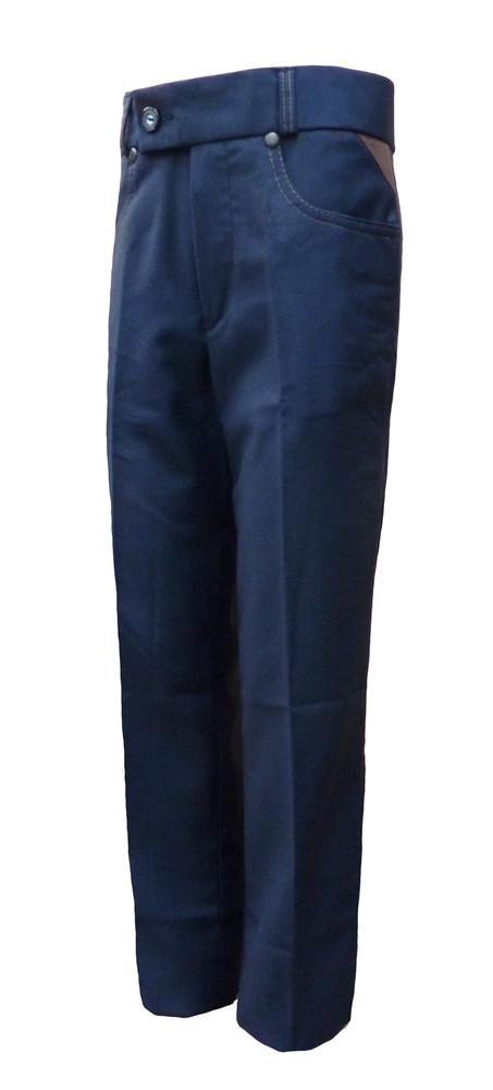 10 брюки школьные, цвет синий (мадонна) р. 32 - 42 фото №1