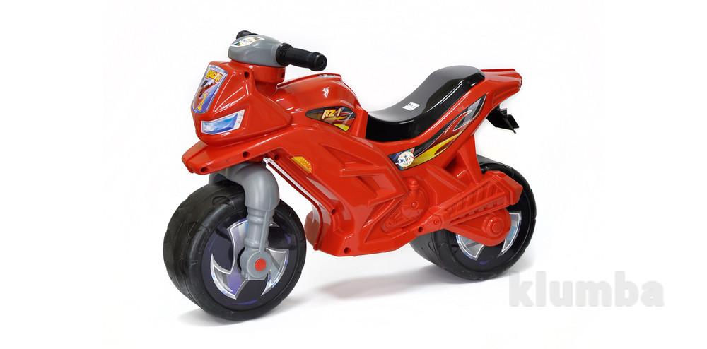 Музыкальный мотоцикл Орион красный 501 каталка байк фото №1