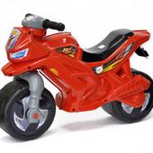 Музыкальный мотоцикл Орион красный 501 каталка байк