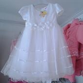 Платье  детское нарядное (белое) Размер: 5-6 лет