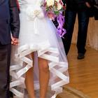 Очень классное свадебное платье-трансформер!Цену снижено!!! В подарок перчатки и цветочки на грудь