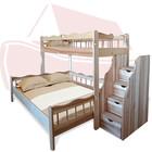 Двухъярусная трехспальная кровать Ковчег из ясеня или дуба