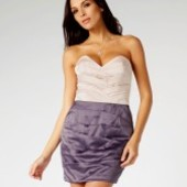 Нарядное платье-бандо Lipsy, 10 (наш 44 размер)