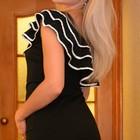 Платье утягивающее с эффектными оборками, 10 размер