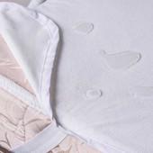 Непромокаемые наматрасники с резинками или с бортом, есть размеры на заказ