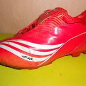 бутсы футбольные, 31 размер, стелька 19 см, Adidas, c шипами