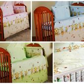 Постельное белье в кроватку новорожденного 3 предмета. Пчелки