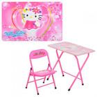 Столик парта и стульчик - раскладной для девочек от 2-х лет Китти (Hello Kitty)