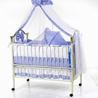 NEW! Кроватка детская Geoby TLY-612R-RPUR, фиолетовый