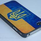 Чехлы для iPhone 4/4S с украинским флагом и гербом, чехол айфон флаг Украины
