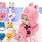 """в наличии детский комплект детская двойная шапка + шарф """"Лягушка"""""""