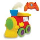 Развивающая игрушка на ИК управлении   ПАРОВОЗИК ЧУХ  на колесах, свет, звук, водяной пар