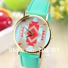 Креативные часы Geneva Platinum в этно-стиле, мятные