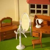 Маленькая мебель Happy Family прихожая гостинная вешалачки зеркало стул трюмо комод письменный стол