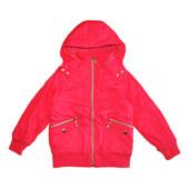 Распродажа. Куртка на флисе р.116 и 122 для девочки. Венгрия