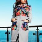 Пальто кашемировое с цветами