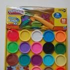 Набор пластилина Play Doh super color kit 18 баночек и 16 аксессуаров. В наличии