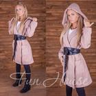 Пальто кашемировое с карманами и поясом