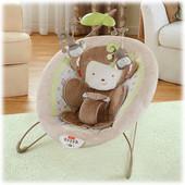 Кресло - качалка, шезлонг маленькая обезьянка Fisher price оригинал из США