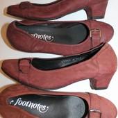 37 разм Фирменные туфли Footnotes. Кожа