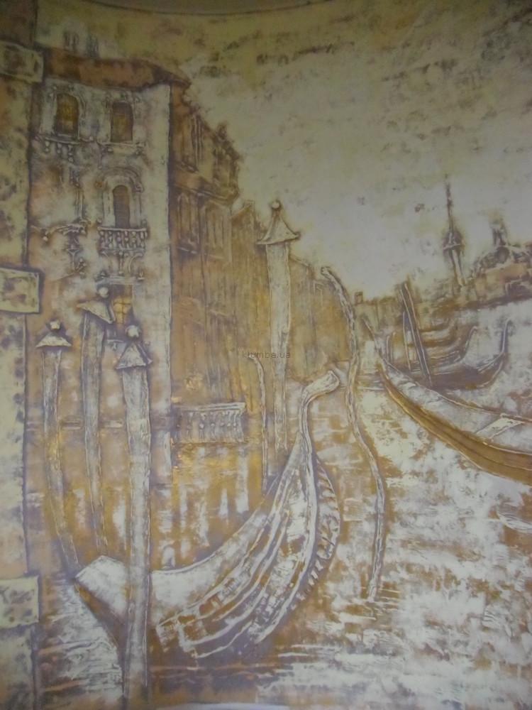 Художественная роспись стен и потолков,декоративная рельефная штукатурка,лепка фактурой ,барельеф фото №1