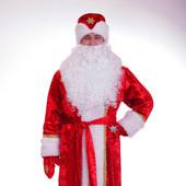 Костюм Деда Мороза, бархатный на стеганой подкладке от производителя