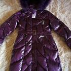 Зимнее пуховое пальто, пуховик, женский, новый, опушка-песец, р. 42-44