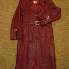 кожаный плащ,пальто