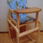 Детский деревянный стульчик стул для кормления из цельного бруса