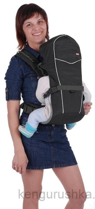 Кенгуру для детей, Рюкзак-кенгуру «BabyActive Simple» (черный) фото №1