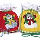 Мешки Снеговики,игрушка символ года 2015,подарки на новый год