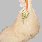 Эксклюзивное свадебное платье со шлейфом на прокат с салона