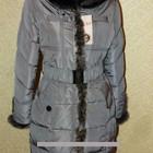 Зима 2014 Модный пуховик пояс резинка