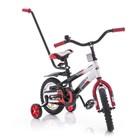 Детский двухколесный велосипед Azimut Stitch с ручкой 12 д и на 14 д