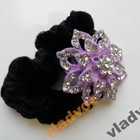 Резинка для волос цветок острый фиолетовый