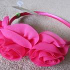 Розовый обруч ободок для девочки с тремя розами аксессуары для волос фирмы Crazy8 из США