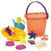 Набор для игры с песком и водой- Мега Ведерце Папайя (10 предметов)