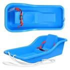 Детские пластиковые санки с ремнем безопасности: 2 цвета