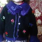 Теплая вязаная кофта на девочку 2-4 лет