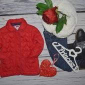 2 - 3 года Рост 98 см Курточка куртка деми девочке стеганна в сердечко